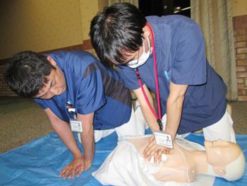 BLS(Basic Life Support :一次救命処置)研修実施